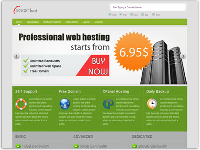 Magic Host Joomla Template | Joomla Hosting Template | Joomla ...