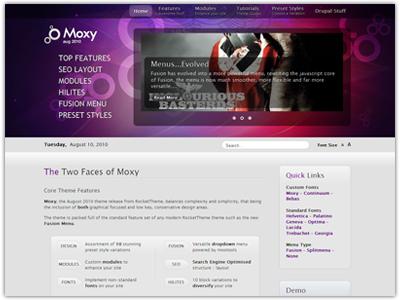 Moxy Drupal Review Theme