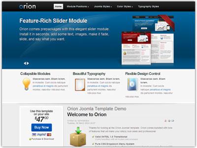 Orion Joomla Portfolio Template