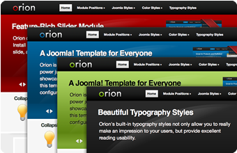Orion Joomla Template Colors