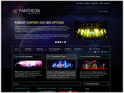 Pantheon Joomla Transparent Template