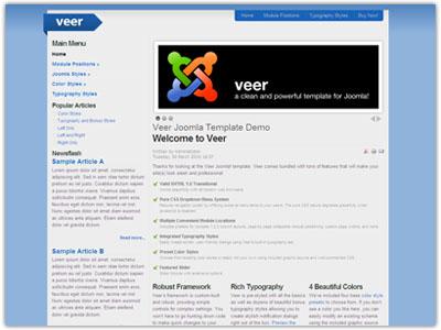 Veer Joomla Flexibility Template