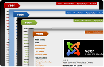 Veer Joomla Template Colors