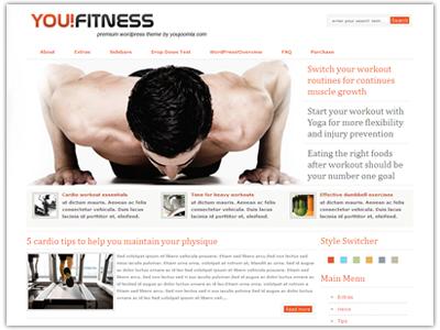 YouFitness WordPress Theme
