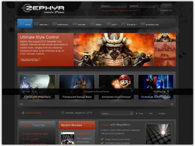 Zephyr Joomla Template | Transparent Design & Color Chooser ...