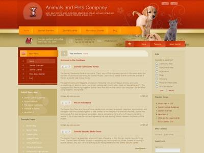 DJ Animals01 Joomla Pets Template