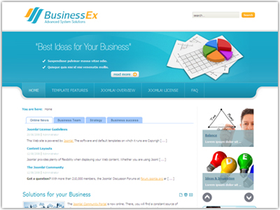 DJ BusinessEx Joomla Template