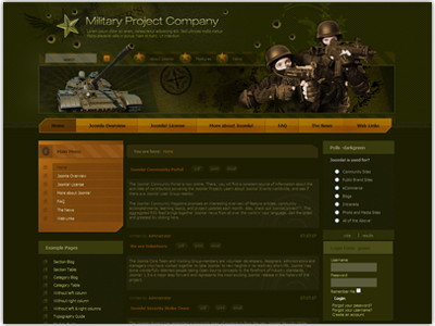 dj military joomla template for army force