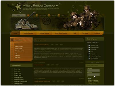 DJ Military Joomla Army Template