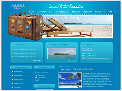 DJ Travel Joomla Template