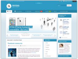 JA Social Joomla K2 Templa