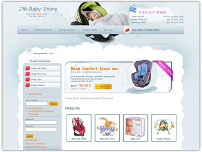 JM Baby Store Joomla Template