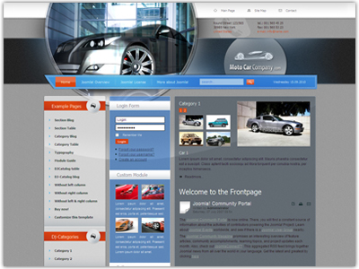 JM Cars01 Joomla Vehicles Template