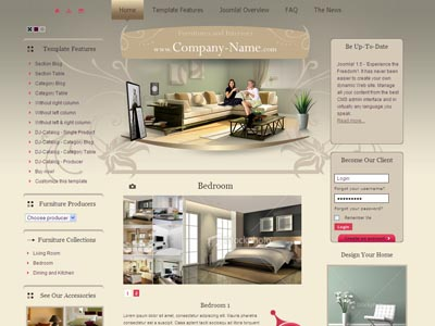 JM Furniture Accessories Joomla Template