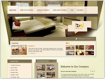 JM Interior Joomla Furniture Template