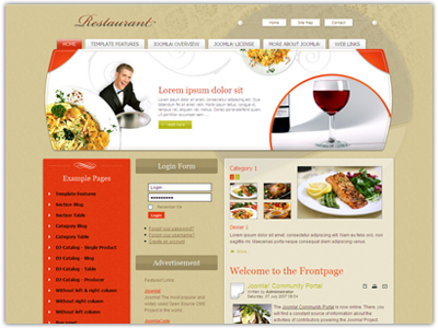 JM Restaurant01 Joomla Food Template