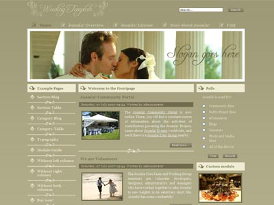 JM Wedding02 Joomla Template