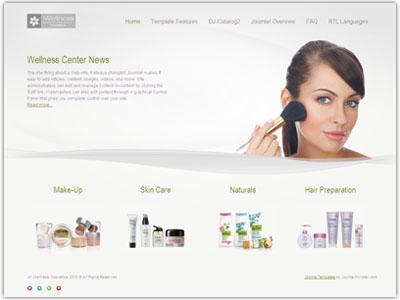 JM Wellness Cosmetics Joomla Template