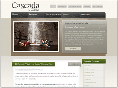 JS Cascada Joomla Social Template