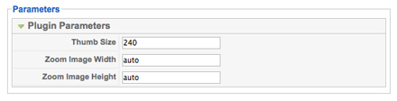 JV Images Zoom Plugin Parameter Options