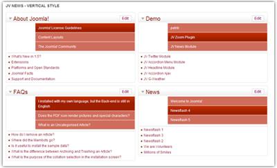 JV Joomla News Module