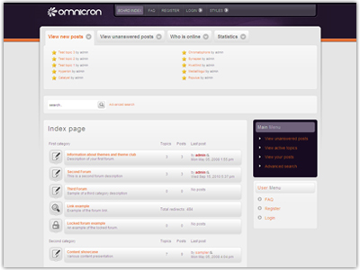 Omnicron phpBB3 Template