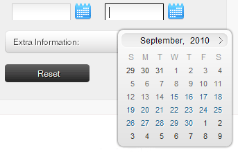 S5 Reservations PopUp Calendars