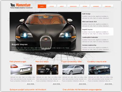 YouMomentum WordPress Cars Theme