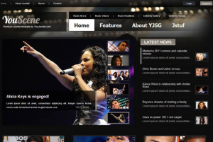 YouScene Music Joomla Magazine Template