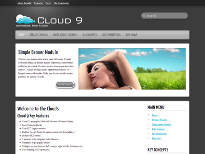 Cloud 9 Joomla Social Networking Template
