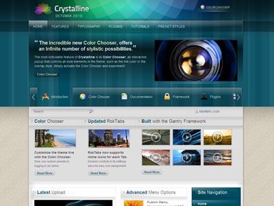 Crystalline WordPress Transparent Theme