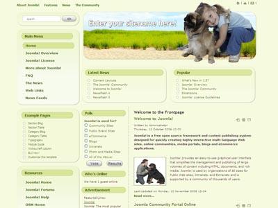 DJ 0012 Joomla Animal Foods Template