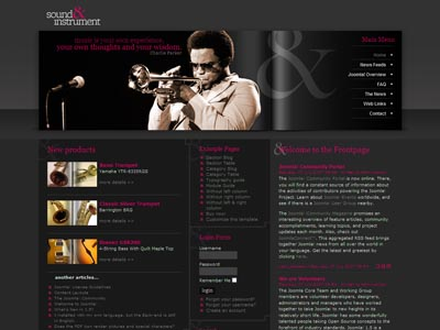 DJ Music03 Joomla Instruments Template