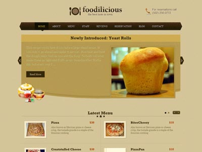 Foodilicious WordPress Cafe Theme