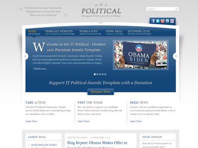 IT Political Joomla News Template