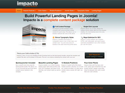 Impacto Joomla Template | Joomla Landing Page Template for ...