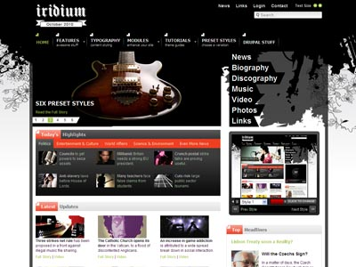 Iridium Drupal Music Theme