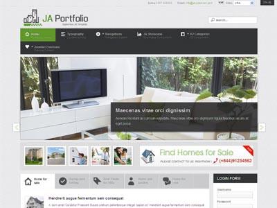 JA Portfolio Joomla Template