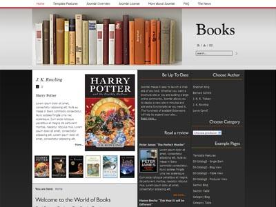JM Books Joomla Education Template