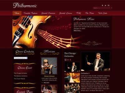 JM Philharmonic Joomla Music Template