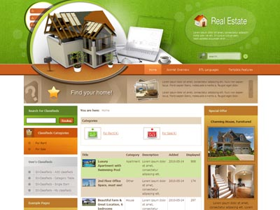 JM Real Estate Classifieds Joomla Template Joomla Monster - Real estate advertisement template