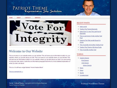 Patriot WordPress Political Theme