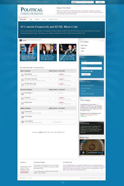 Political PhpBB3 Government Template