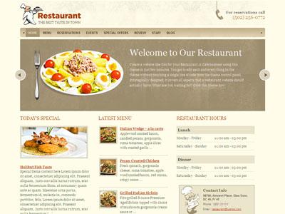 Restaurant WordPress Cafe Theme