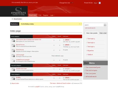Syndicate phpBB3 Template