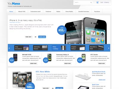 youmania joomla template | joomla web shop e-commerce template, Powerpoint templates