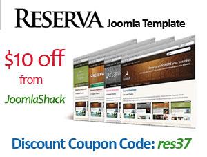 10 off Reserva Joomla Template