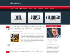 Americana Wordpress Construction Sites Theme