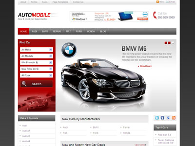 Automobile WordPress Car Theme