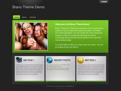 Bravo Web 2.0 WordPress Theme